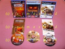 3x PS2 _ Vietcong Purple Haze & Killzone & Battlefield 2 Modern Combat