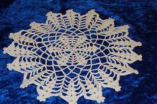 Häkeldeckchen/Spitzendeckchen, rund,weiß 33 cm, Handarbeit, aus Baumwolle