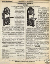 1935 PAPER AD 8 PG Wood Wizard Wooworking Tools Machines Band Saw Jig Jointer