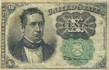 1874 - 1875 FRACTIONAL CURRENCY 10 CENT NOTE ~ GREEN SEAL ~ FR 1264 ~ SCARCE