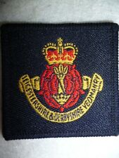 The Leicestershire & Derbyshire Yeomanry Cloth Hat / Beret Cap Badge
