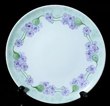 "Shumann Salad plate  ""Forget Me Not"" ornament 8""  hand painted & signed 1962"