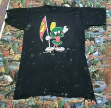 Vintage 1991 Marvin The Martian Star All Over Print Shirt L Looney Tunes