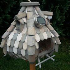 Gro�Ÿes Luxus Solar LED Licht Vogelhaus Holz Bunt Vogelfutterhaus Vogelhäuschen
