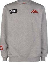 Kappa Men's Authentic LA Bazya Crewneck Sweatshirt, Grey, XL
