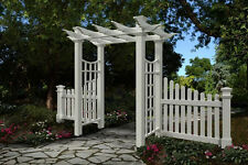 New England Arbors Decorative FAIRFIELD DELUXE Garden Patio Arch w/2 FENCE Wings