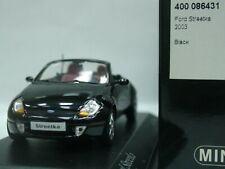 WOW EXTREMELY RARE Ford Streetka Ka Ghia Cabriolet 2003 Black 1:43 Minichamps-GT