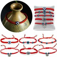 Adjustable Red String Evil Eyes Lucky Red Cord Bracelet Handmade Bangle Jewelry