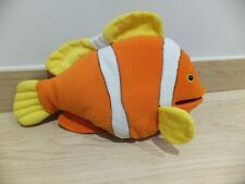 SOFT CLOWN FISH HAND PUPPET WITH WORKING MOUTH