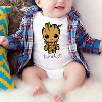 I Am Groot Newborn Baby Girl Boy Romper Bodysuit Jumpsuit Outfits Sunsuit Clothe
