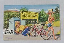 Postcard Bamforth Comic Seaside Humour Saucy Bicycles No. 2041 Brian Perry