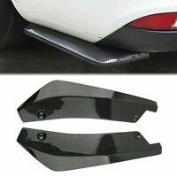2X Universal Carbon Fiber Rear Bumper Lip Diffuser Splitter Canard Protector Hot