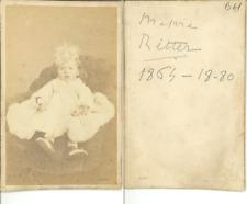 Emma Ritter  CDV vintage albumen carte de visite,  Tirage albuminé  6,5x10,5