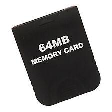 Memory Card for GameCube Nintendo 64mb GC & Wii 1019 Block Black | ZedLabz