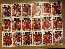 PANINI PREMIER LEAGUE 2019/20 FULL TEAM SET OF ALL 18 MANCHESTER UNITED CARDS