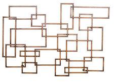 2513 - Geometric Metal Wall Decor