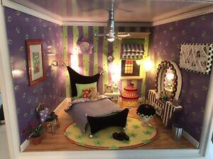 American Girl AG Minis Illuma Purple Room