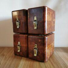 Set of 4 Soviet bakelite box Russian storage tool USSR military vintage army