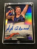 JOANNE CALDERWOOD 2018 TOPPS CHROME UFC #FA-JC AUTOGRAPH AUTO MMA INSERT CARD