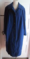 Vintage Forecaster of Boston Wool Royal Blue Winter Long Maxi Coat Womens 22 1/2