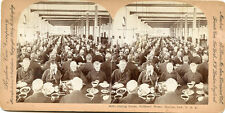 DINING ROOM SOLDIERS HOME MARION IND STEREOVIEW 1898
