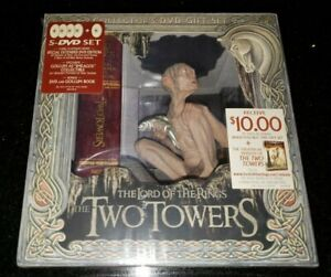 LORD OF THE RINGS THE TWO TOWERS (DVD 2003 5-Disc Set) COLLECTORS BOX GOLLUM NEW