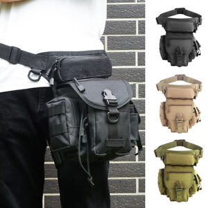 Military Molle Tactical Drop Leg Bag Tool Fanny Thigh Pack Pouch Hiking Camping