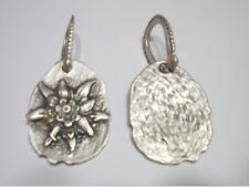 Blume Edelweiß Anhänger mit Hufeisen Öse Trachten- Accessoires L6,5cm/b3,5cm