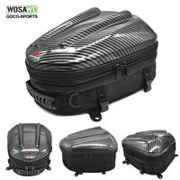 Motorcycle Touring Rear Seat Tail Bag Helmet Bag Luggage Expandable Backpack