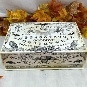 Punch Studio Decorative Halloween Ouija Board KeepSake Storage Box Flip Lid New