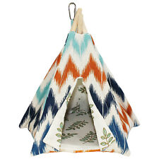 Teepee Tent (Medium) - Cozy Bed - Sugar Glider, Hamster, Degu, Chinchilla, Mouse