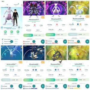 Pokémon Account Go level 40 | 116 Shiny | 159 Legendary(Rare)| 371,4*Pokemon