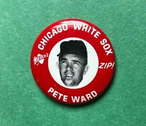 1969  PETE WARD  Kelly's Potato Chips ZIP  Baseball Pin Back Button  White Sox