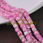 New 30pcs 8mm Cube Square Faceted Glass Loose Spacer Colorful Beads Red&Brown