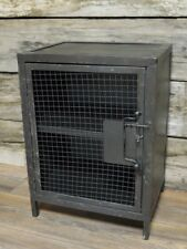Industrial Style Bedside Table Cabinet Retro Urban Unit