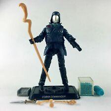 "4"" G.I. Joe Cobra Commander Cobra Leader Figure with Weapons Stand Accessories"