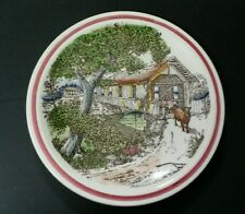Vernon Kilns BITS OF OLD NEW ENGLAND The Old Covered Bridge Bits Plate  8 1/2 IN