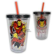 Iron Man Marvel Comics 18 Oz Tumbler & Straw Travel Cup