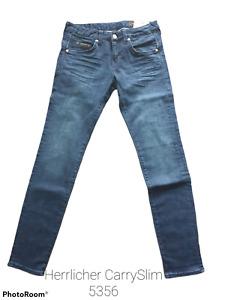 Herrlicher Damen Jeans Carry Slim+Farbe:deep royal+Größe:27+Neuware
