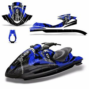 Decal Graphic Kit Yamaha Ski Wrap Jetski Waverunner Wave Runner 02-05 REAP BLUE