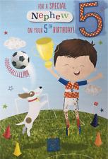5th Birthday Card Boy Grandson Son Little Boy Brother Godson Nephew