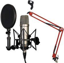 Rode NT1-A Set Kondensator Mikrofon + KEEPDRUM NB35RD Rot Gelenkarm Stativ