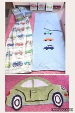 Boys Traffic Jam Bedroom Set Curtains Rug Shelves Wall Canvases Etc From Next