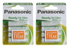 8 x Panasonic AA Batería Recargable 1900 mAh batería recargable de NiMH Completo