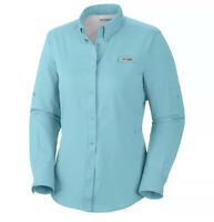NWT Women's Sz L Columbia PFG Tamiami II Omni-Shade Vented Fishing Shirt