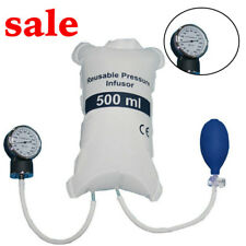 Compact Blood Pressure Infusion Bag 500ml With Gauge And Hand Pump Ball Clinic