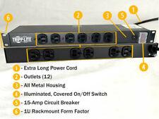 TRIPP LITE RS-1215 12 OUTLET RACKMOUNT POWER STRIP 120V Power Tap NEW