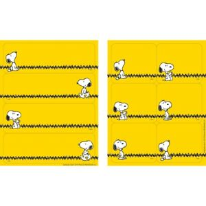 Peanuts Yellow Label Stickers by Eureka