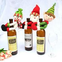 Merry Christmas Santa Snowman Wine bottle Cover Household Table Party Decoration