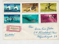 DDR 1972 Regd Merseburg Cancel Olympic Multiple Sports Stamps Cover Ref 30189
